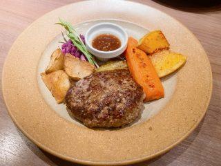 野菜とハンバーグ