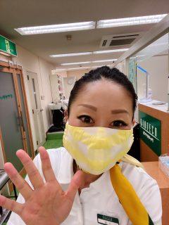 手作りマスクをいただきました(*'∀')